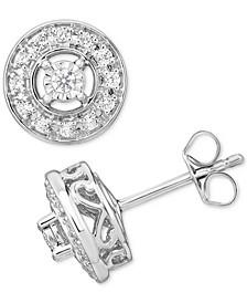 Diamond Halo Stud Earrings (1/3 ct. t.w.) in 10k Gold