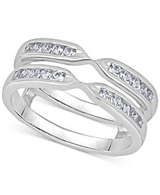 Diamond Channel-Set Ring Guard (1/2 ct. t.w.) in 14k White Gold
