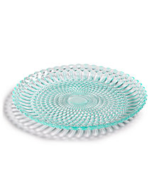 Viva by VIETRI Parlor Glass Aqua Salad Plate, Created for Macy's