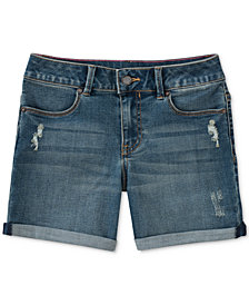 Calvin Klein Boyfriend Bermuda Denim Shorts, Big Girls