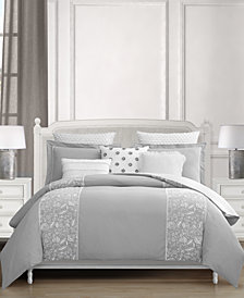 CLOSEOUT! Lacourte Althrop 8-Pc. Cotton Queen Comforter Set