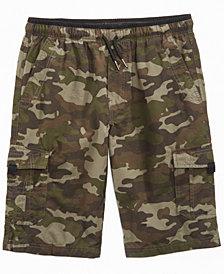 Univibe Camo-Print Scout Shorts, Big Boys Husky