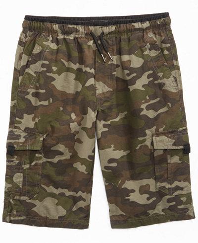 Univibe Camo-Print Scout Shorts, Big Boys