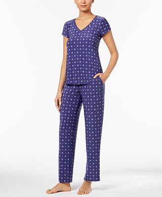 Alfani Printed Pajama Top & Pants Sleep Separates, Created for Macy's