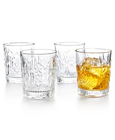 Stone Double Old Fashioned Glasses, Set of 4