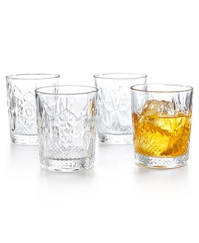 Bormioli Rocco Stone Double Old Fashioned Glasses, Set of 4
