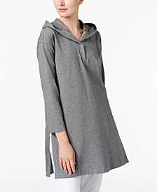 Eileen Fisher Organic Cotton Hooded Tunic