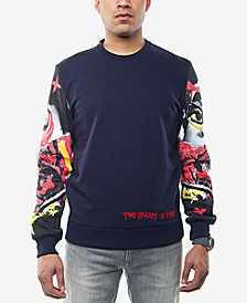 Sean John Men's Printed-Sleeve Sweatshirt, Created for Macy's