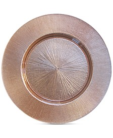 Jay Import  Rose Gold-Tone Glass Charger Plate