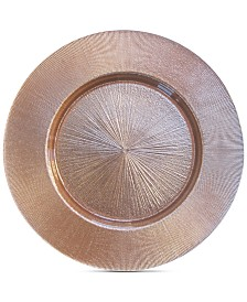 Jay Imports Rose Gold-Tone Glass Charger Plate