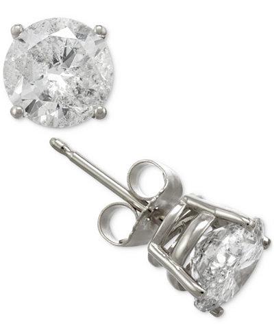 Certified Diamond Stud Earrings in 14k Gold or White Gold (2 ct. t.w.)
