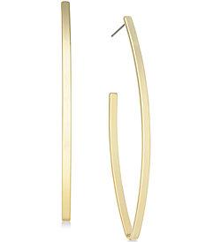 I.N.C. Open V-Shaped Gold-tone Plated Hoop Earrings, Created for Macy's