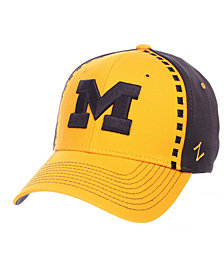 Zephyr Michigan Wolverines Pattern Pipe Stretch Cap
