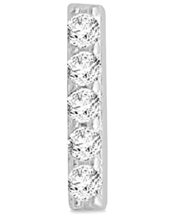 Macy's - Diamond Accent Vertical Bar Single Stud Earring in 14k White Gold