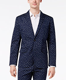 I.N.C. Men's Woven Wheat Blazer, Created for Macy's