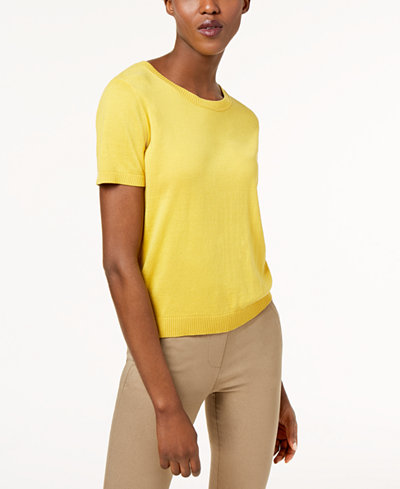 Weekend Max Mara Cancan Short-Sleeve Sweater