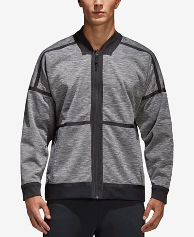 adidas Men's ZNE Singled Out Reversible Bomber Jacket