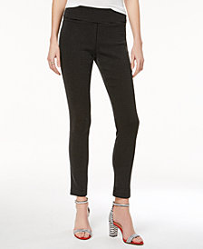 I.N.C. Petite Jacquard Dot Slim Pants, Created for Macy's