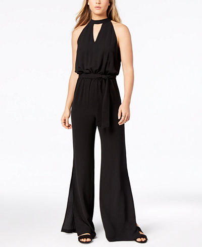 Bar III Belted Wide-Leg Jumpsuit, Created for Macy's