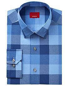 Alfani Men's Slim-Fit Stretch Mega Block Gingham Dress Shirt, Created for Macy's