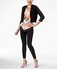Thalia Sodi Lace Cardigan, Halter Top & Skinny Pants, Created for Macy's