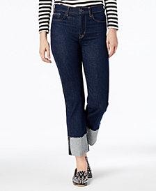 Hudson Jeans Zooey Raw-Hem Straight-Leg Jeans