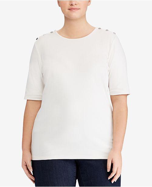 Lauren Ralph Lauren Plus Size Stretch T-Shirt