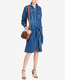 Polo Ralph Lauren Plaid Linen Shirtdress