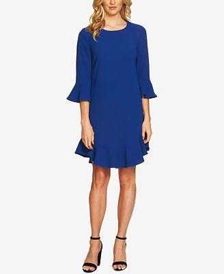 CeCe Ruffled Bell-Sleeve Dress