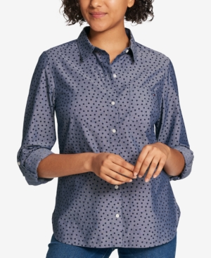 Tommy Hilfiger  COTTON CHAMBRAY UTILITY SHIRT, CREATED FOR MACY'S