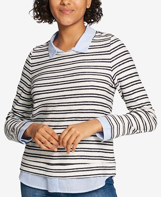Tommy Hilfiger Layered Look Sweater Created For Macys Tops