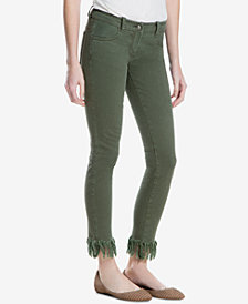 Max Studio London Frayed-Hem Skinny Jeans, Created for Macy's