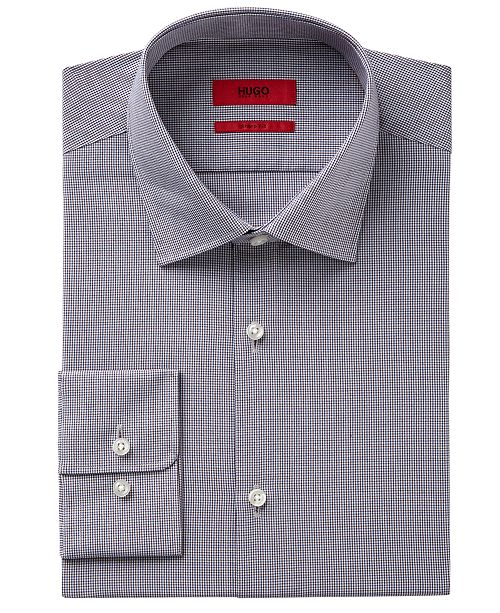 fbf511a1d65 Hugo Boss (White) Slim-fit dress shirt in cotton   Ilias  main image  main  image .