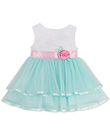 Rare Editions Soutache Bodice Dress, Baby Girls