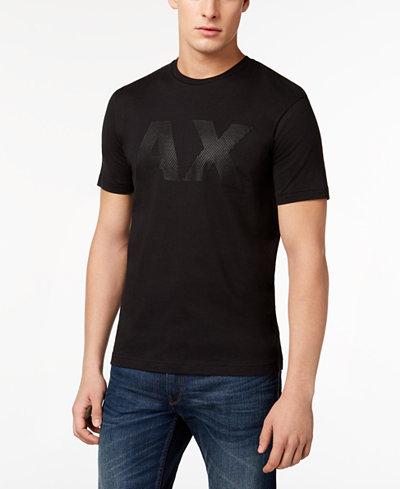 Armani Exchange Men's Rubberized Logo-Print T-Shirt