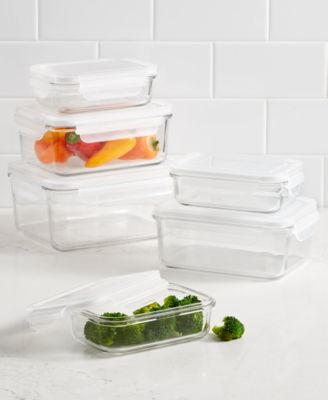 Martha Stewart Collection 12 Pc. Glass Storage Set, Created For Macyu0027s