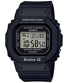 Baby-G Women's Digital Black Resin Strap Watch 40mm