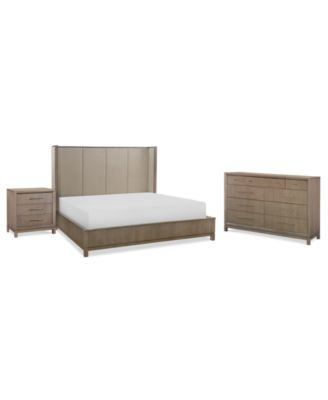Rachael Ray Highline Bedroom Furniture, 3-Pc. Set (Upholstered Shelter Queen Bed, Dresser & Nightstand)
