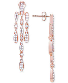 Wrapped in Love™ Diamond Chandelier Earrings (3/4 ct. t.w.) in 14k Rose Gold, Created for Macy's
