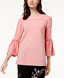 Alfani Bell-Sleeve Sweater, Created for Macy's