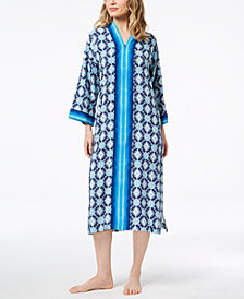 Charter Club Printed Woven Caftan, Created for Macy's