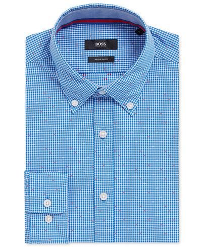 BOSS Men's Regular/Classic-Fit Patterned Cotton Sport Shirt