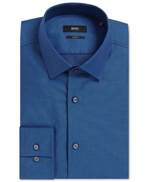 Hugo Boss BOSS Men's Slim-Fit Birdseye Cotton Dress Shirt