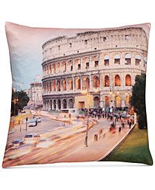 "LAST ACT! Hallmart Collectibles Rome Graphic-Print 18"" Square Decorative Pillow"