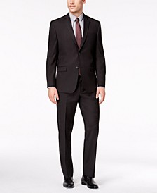 by Andrew Marc Men's Classic-Fit Stretch Black Micro-Grid Suit