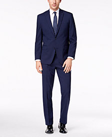 CLOSEOUT! Michael Kors Men's Classic-Fit Blue Check Suit