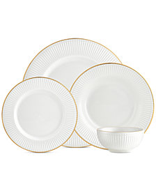 CLOSEOUT! Godinger Republique 16-Pc. Gold Banded Dinnerware Set, Service for 4