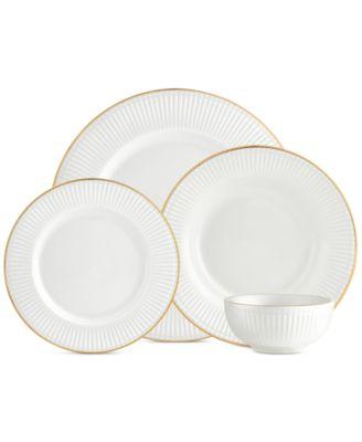 main image  sc 1 st  Macy\u0027s & Godinger CLOSEOUT! Republique 16-Pc. Gold Banded Dinnerware Set ...