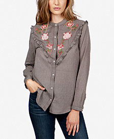 Lucky Brand Embroidered Western Shirt
