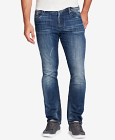 WILLIAM RAST Men's Dean Slim-Straight Fit Destroyed Jeans